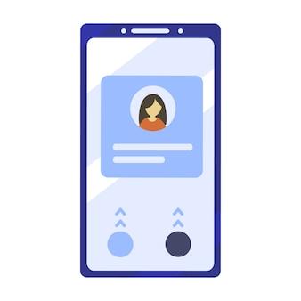 Mobiele telefoonillustratie in vlakke ontwerpstijl