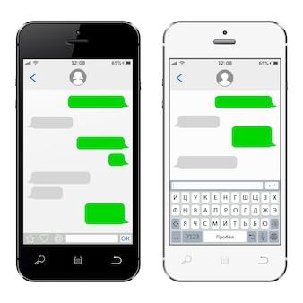 Mobiele telefoons met virtueel toetsenbord van het russische alfabet