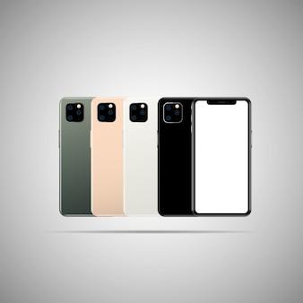 Mobiele voor- en achteraanzicht illustratie.