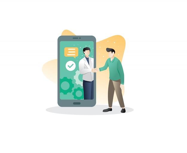 Mobiele zakelijke overeenkomst