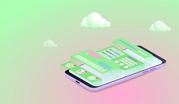 Mobile application development-concept