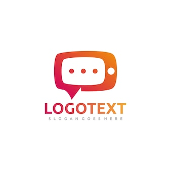 Mobile chat-logo