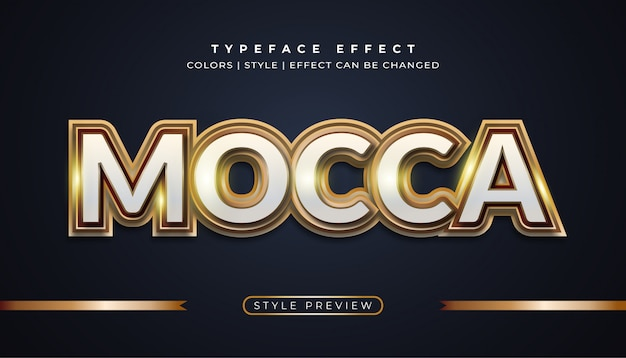 Mocca gold teksteffecten