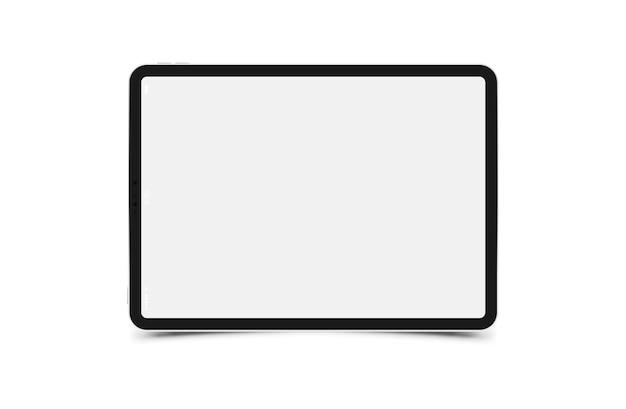 Mock-up realistische zwarte tablet