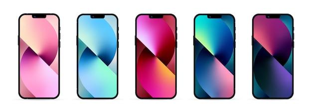 Mock-up scherm nieuwe iphone 13. nieuwe iphone 13. midnight iphone 13. achterkant iphone. vector illustratie. zaporizja, oekraïne - 25 september 2021