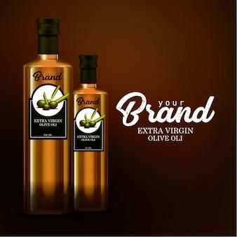 Mock-up sjabloon flesje olie