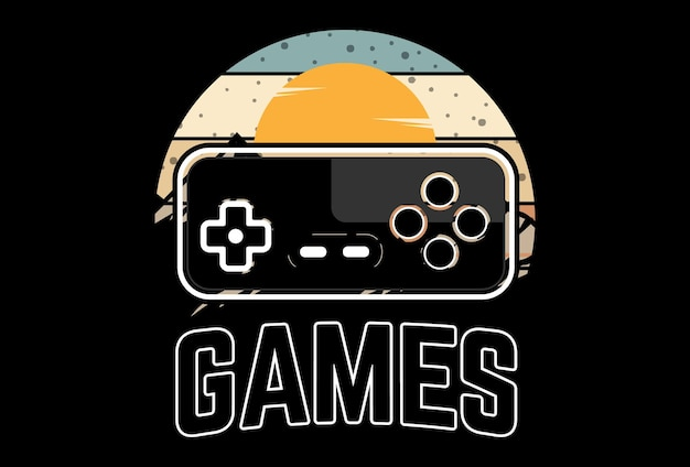 Mock up t-shirt games retro vintage stijl