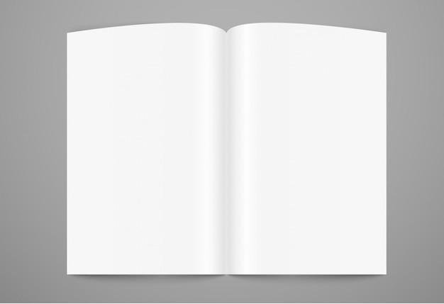 Mock-up van boekpagina openen. klaar voor een inhoud
