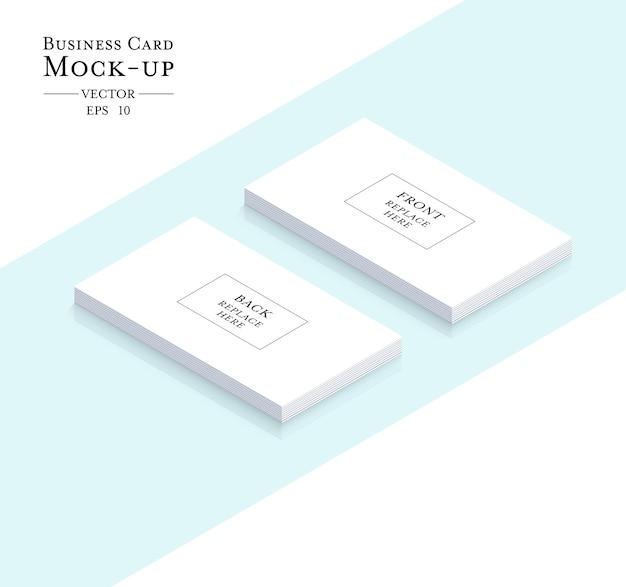 Mock-up zakelijk contactkaart
