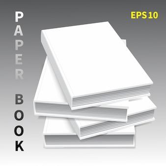 Mock-ups van papieren boeken