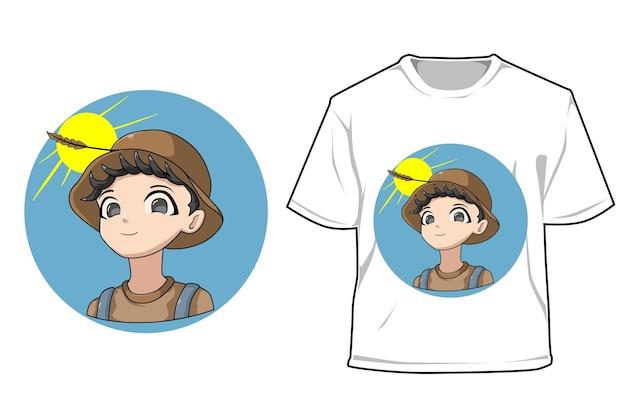 Mockup boer jongen cartoon afbeelding