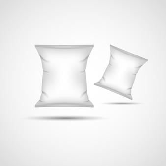 Mockup leeg folievoedsel klaar voor uw ontwerp en branding vectorillustratie