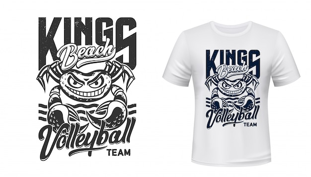 Mockup met t-shirt print, volleybal sportclub