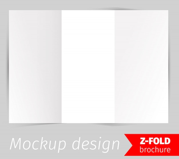 Mockup-ontwerp met brochure in z-vouw