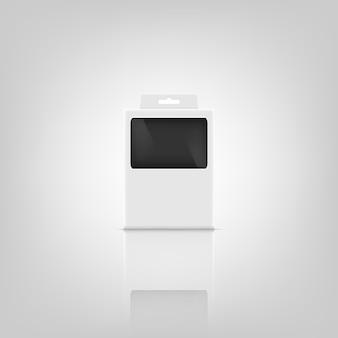 Mockup-ontwerp voor 3d-pakketten.
