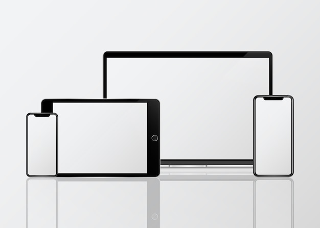Mockup-set voor digitaal apparaat