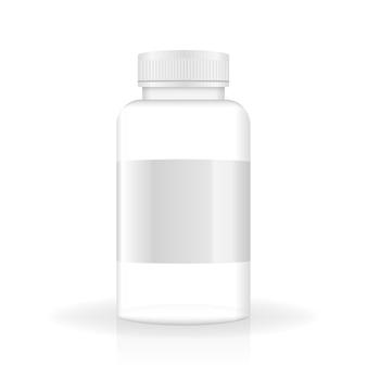 Mockup voor gezondheidszorgontwerp spuitfles containermodel gezondheidszorg kunststof verpakkingsontwerp