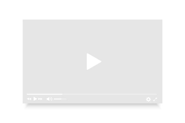 Mockup voor videospeler online videospelersjabloon voor internet