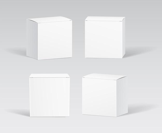 Mockups voor doosverpakkingen