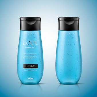 Mockupsjabloon voor heren body wash in blauw