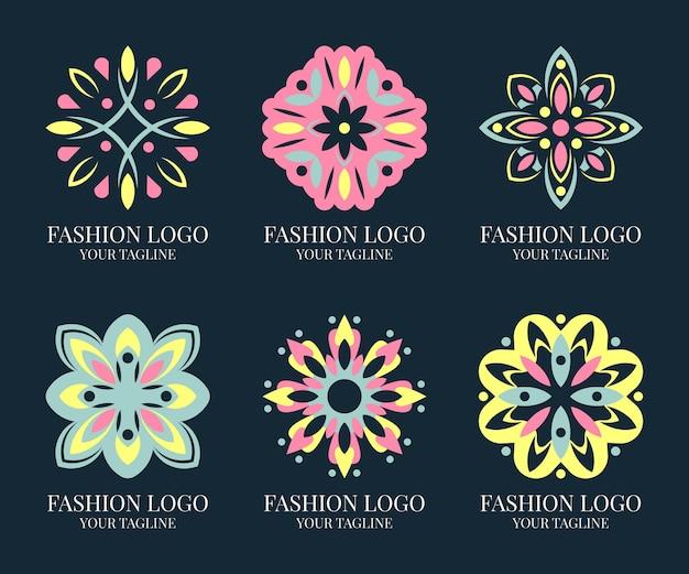 Mode-accessoires logo sjabloon collectie