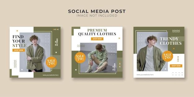 Mode-bannerset voor sociale media