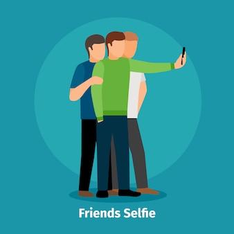 Mode groep selfie weergave mobiele app