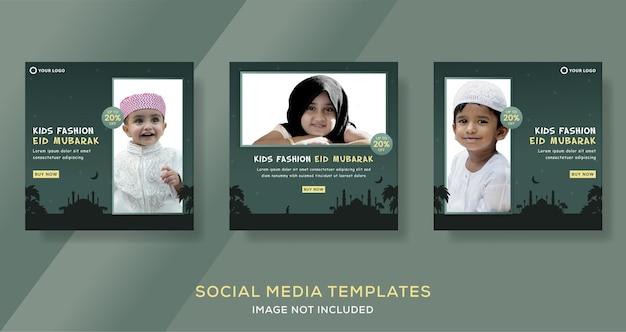 Mode hijab vrouw moslim voor ramadan mubarak verkoop banner sjabloon post