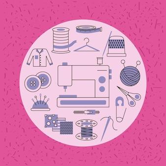 Mode-industrie set cirkel pictogrammen