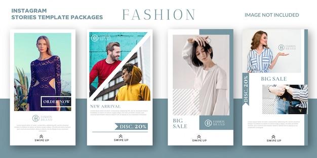 Mode instagram verhalen sjabloonpakketten
