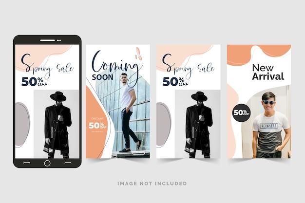 Mode instagram-verhalenpakket