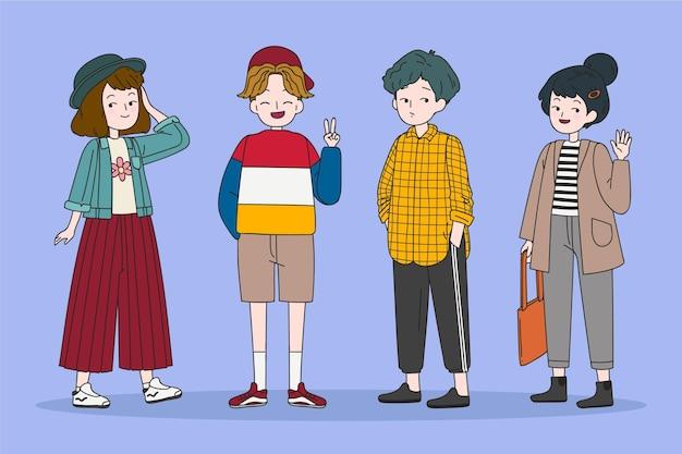 Mode jonge koreanen illustratie