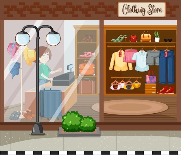 Mode kledingwinkel