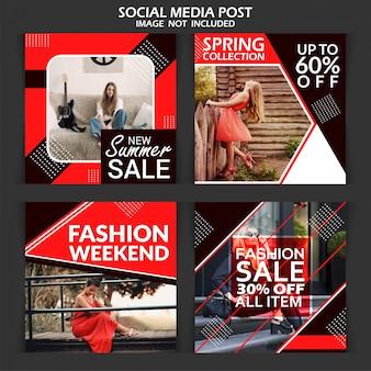 Mode korting verkoop banner