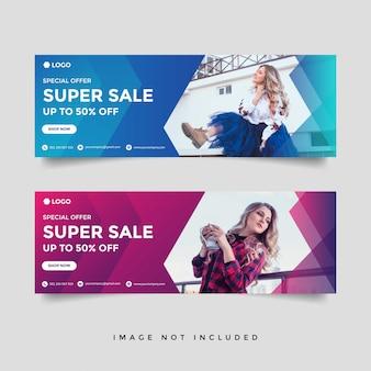 Mode & levensstijl banner sjabloon set