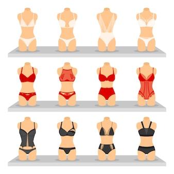 Mode lingerie afbeeldingen instellen