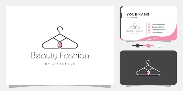 Mode-logo abstract met creatief concept premium vector