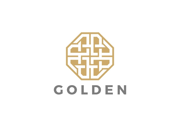 Mode luxe sieraden logo pictogram. lineaire stijl
