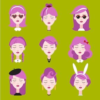Mode meisjes in hoofd accessoires set