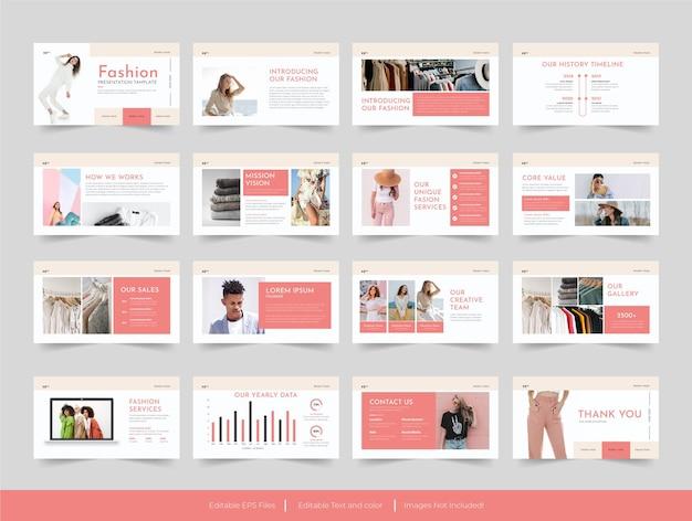 Mode minimale dia's presentatiesjabloonontwerp
