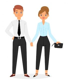 Mode paar met zakelijke kleding