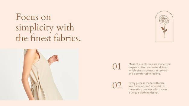 Mode-sjabloon voor sociale media in vrouwelijke stijl