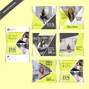 Mode social media post voor digitale marketing