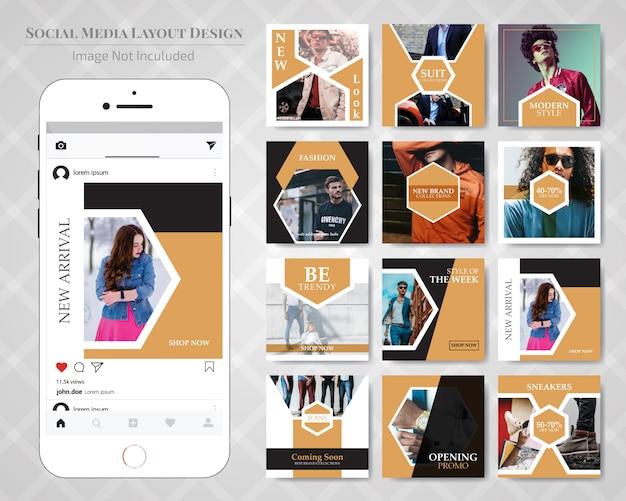 Mode social media verkoop banner post sjabloon