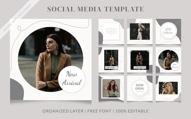 Mode social media verkooppostsjabloon