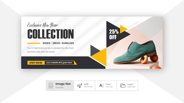 Mode sociale banner cover ontwerp product verkoop post korting banner kleurrijke lay-out thema