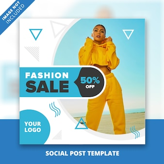 Mode sociale berichtsjabloon