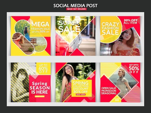 Mode sociale media berichtsjabloon