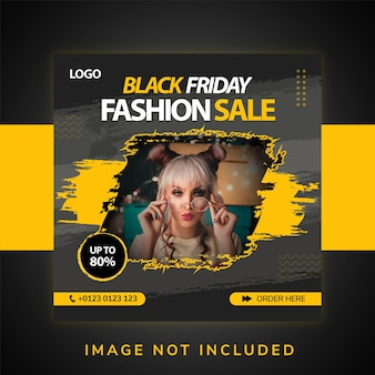 Mode sociale media promotie en instagram banner post ontwerpsjabloon
