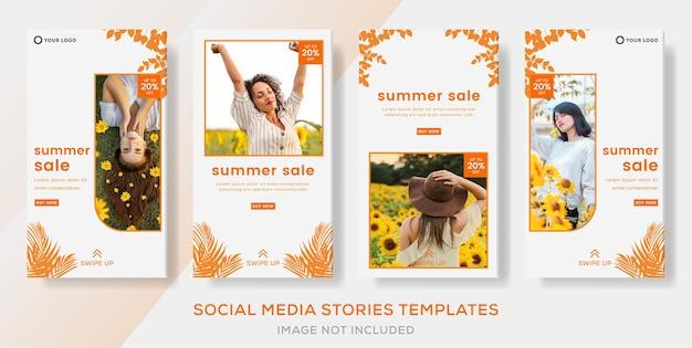 Mode uitverkoop voor zomer banner sjabloon verhalen post